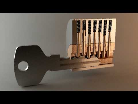animated how locks works youtube. Black Bedroom Furniture Sets. Home Design Ideas