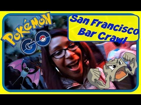 Pokemon Go San Francisco Union Square Bar Crawl (Live Gaming) GamePlay