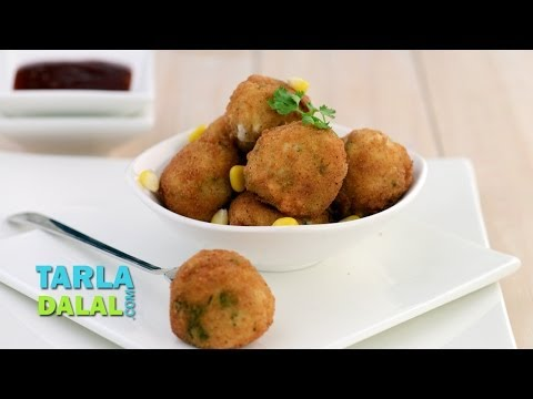 Corn and Rice Balls by Tarla Dalal