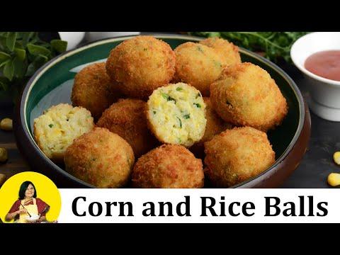 Corn and Rice Balls by Tarla Dalal