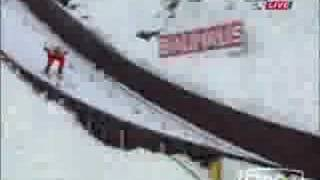 Esqui de invierno  saltos y caídas