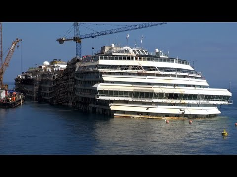 Costa Concordia as it looks today ( April 2014 )