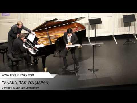 Dinant 2014 – TANAKA, Takuya (3 Pieces by Jan Van Landeghem)