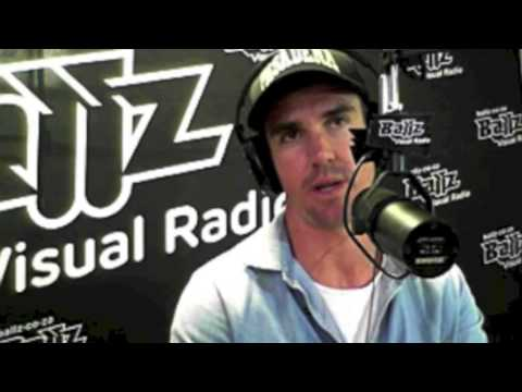 Kevin Pietersen in studio at Ballz Visual Radio