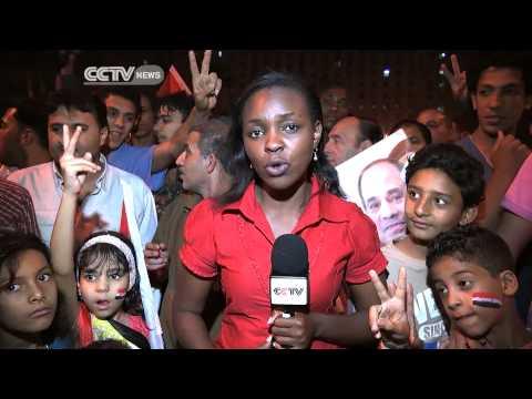 Egyptians Celebrate Al- Sisi Win