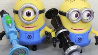 Despicable Me 2 Stuart With Fart Dart Launcher & Dave With Rocket Launcher Movie Toy Review