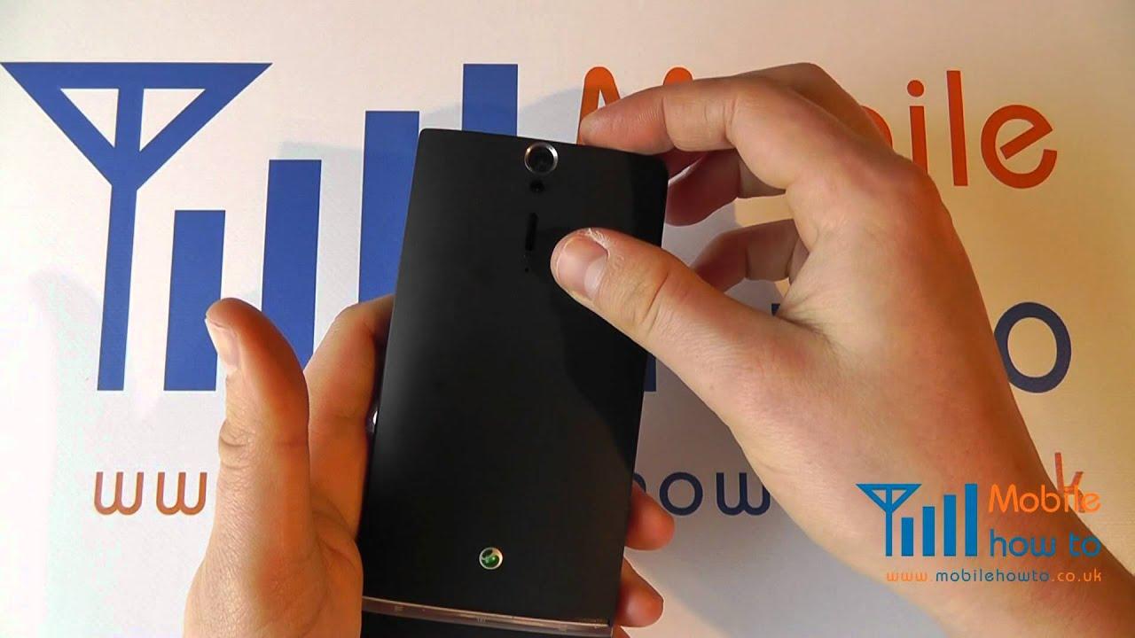 Sony Xperia Neo L Side Flip Cover Sony arc hd lt 15i key side