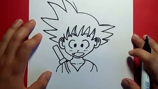 Como Dibujar A Goku Paso A Paso Dragon Ball How To
