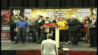 Amir Khan Vs Marcos Maidana Weigh-In