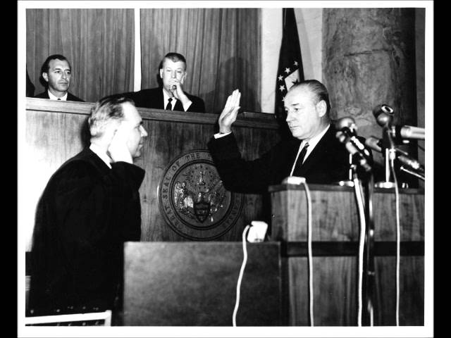 Winthrop Rockefeller takes oath as Governor of Arkansas in 1967