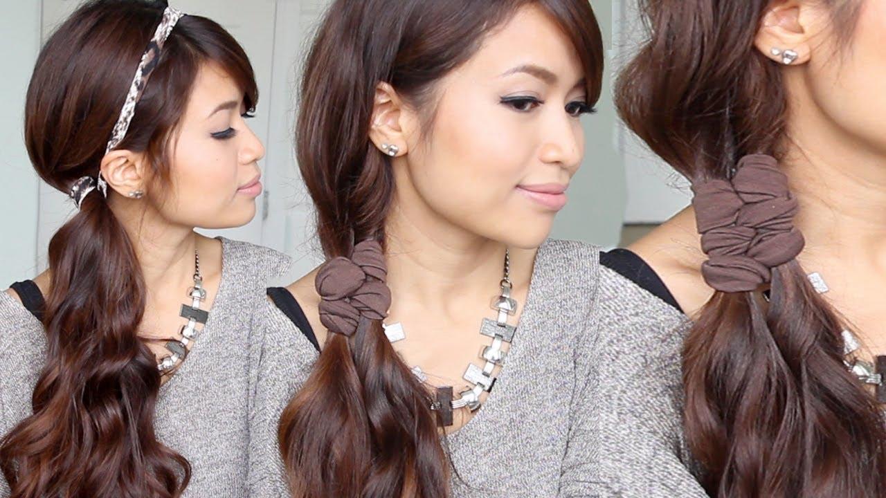 Easy Faux Braid Headband Hairstyles for Medium Long Hair Tutorial ...