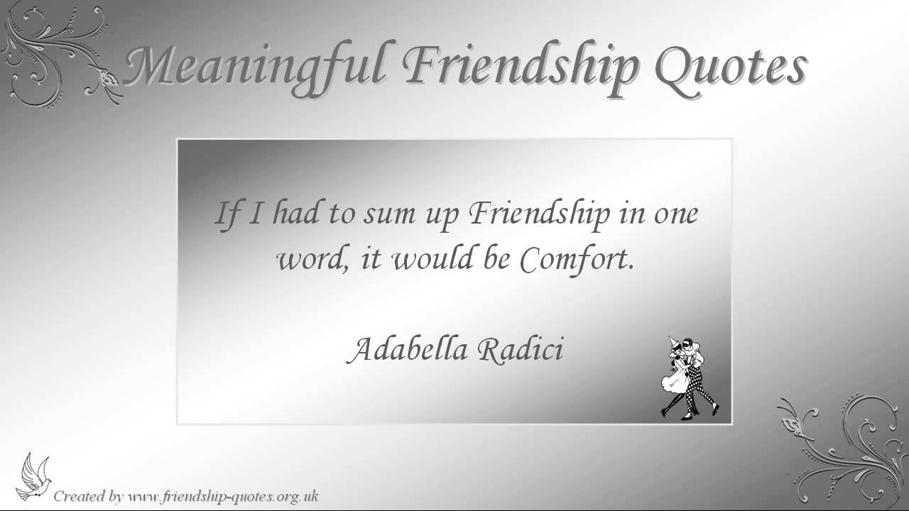 Deep Quotes About Friendship Deep Meaningful Quotes On Friendship Best Ideas About Meaningful