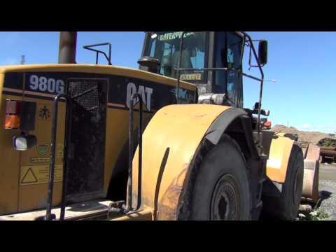 Tampere rantatunneli  Caterpillar 980G wheel loader  Heavy machinery 15 6 2014