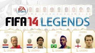 FIFA 14 Ultimate Team Legend Cards ft Bergkamp,Pele,Owen + Van Nistelrooy