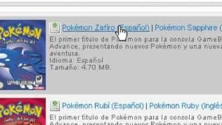 Como Descargar Pokemon Zafiro, Rubi, Rojo Fuego, Verde