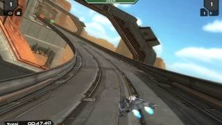 [Quantum Rush Closed Beta gameplay - Canyon race track - Practice] Video