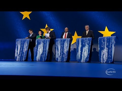 Top EU job rivals hold last TV debate before election