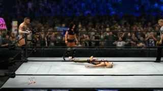 WWE 2K14 Fandango & Summer Rae Vs CM Punk & AJ Lee (WWE