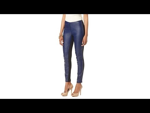 NENE by NeNe Leakes Faux Leather and Ponte Legging