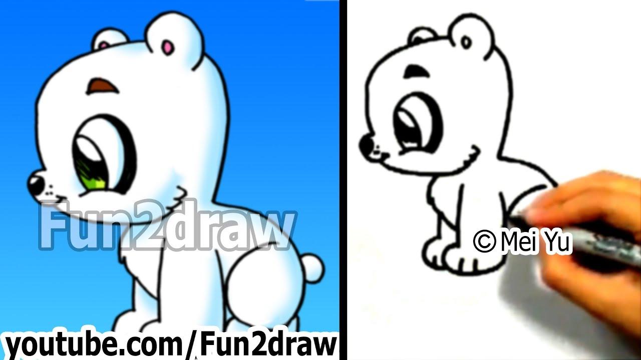 how to draw a polar bear youtube