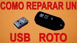 Cómo Reparar un USB Roto (Fácil)