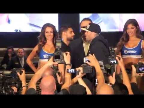 AMIR KHAN v LUIS COLLAZO HEAD TO HEAD @ MGM GRAND ARRIVAL - THE MOMENT
