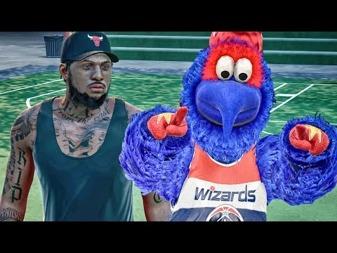 OPPONENTS CAN'T SCORE ON MASCOT! NBA 2k16 My Park Gameplay