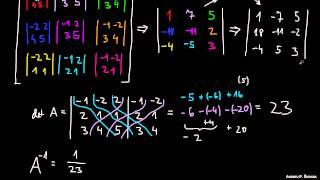 Inverzna matrika 3×3 – 2.del
