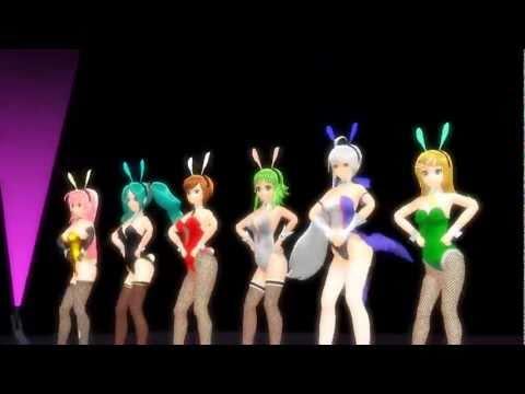 Luka, Miku, Meiko, Gumi, Haku, Rin en traje de Conejitas