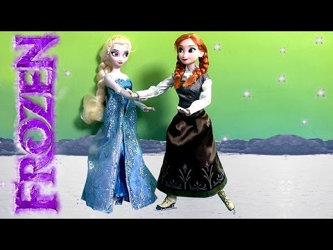 NEW Frozen Elsa and Anna Ice Skating Set From DisneyStore Exclusive Dolls Review