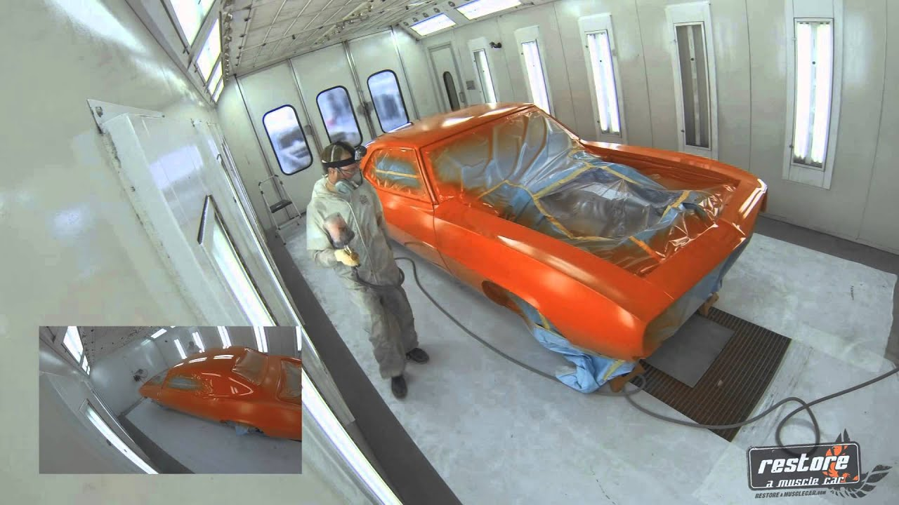 Start To Finish Video Of A 69 Camaro Getting Painted Youtube