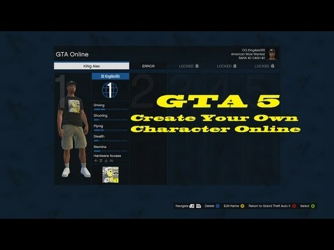 Gta 5 how to create your own character online youtube for Design your own building online