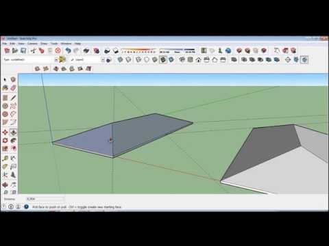 Tutorial SketchUp: Como fazer um telhado com a ferramenta protractor