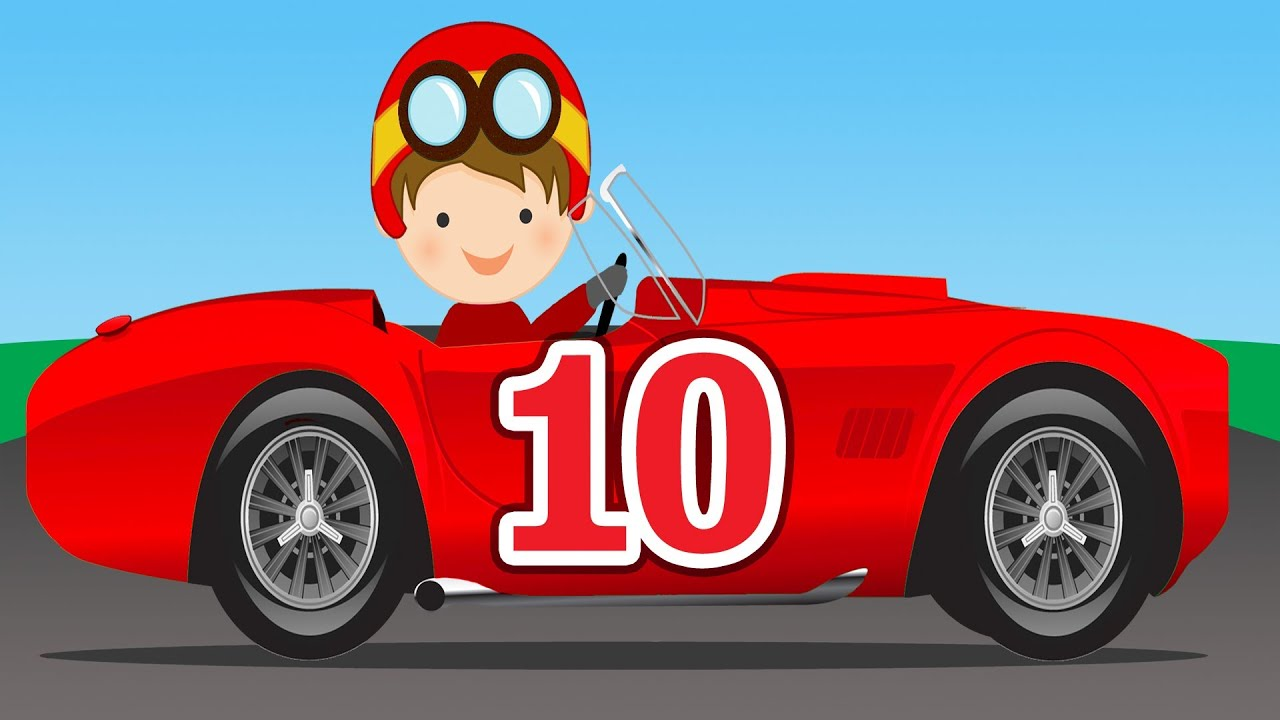 number counting race cars learn to count 1 to 10 for. Black Bedroom Furniture Sets. Home Design Ideas