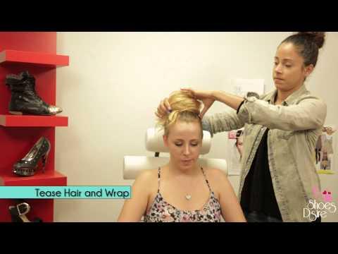 D.I.Y Messy Bun hair tutorial