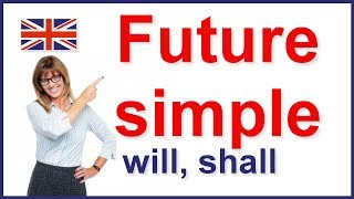 Future simple tense, will and shall video lesson
