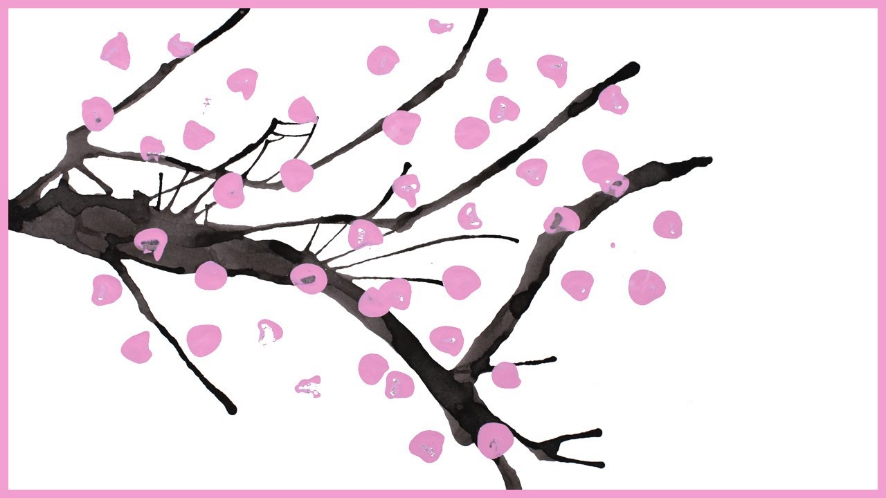 Comment peindre un cerisier japonais youtube - Dessin arbre chinois ...