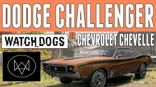 Watch Dogs Cars Dodge Challenger/Chevrolet Chevelle