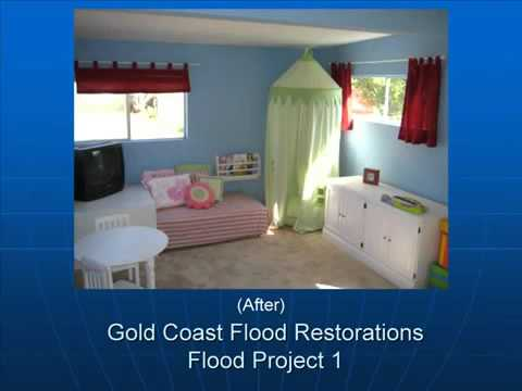 Before and After - Flood Damage San Diego CA (619) 449-9611