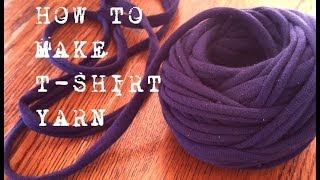 How To Make T-shirt Yarn A Continous Strand