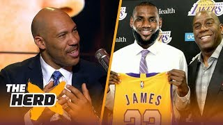 LaVar Ball on Lonzo's diss track deterring LeBron to Lakers, His beef with Magic   NBA   THE HERD