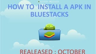 How To Install A Apk In Bluestacks Like Zplayer ,Bbm For