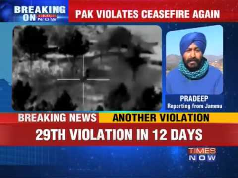 29th ceasefire violation in 12 days by Pak