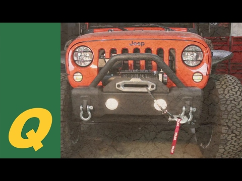 Fishbone Offroad Front Stubby Winch Bumper for Jeep Wrangler JK Installation
