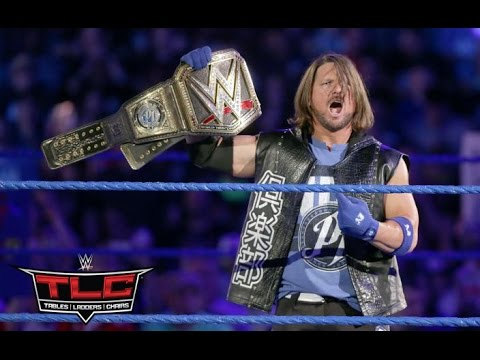 WWE TLC 2016 AJ Styles vs. Dean Ambrose - Tables, Ladders & Chairs Match for the WWE World Title