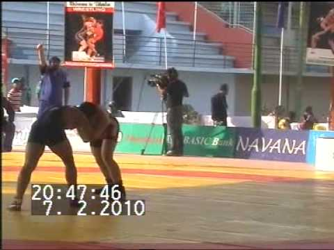 PAKISTANI WRESTLER MUHAMMAD ALI PEHLAWAN WIN GOLD MEDAL IN SOUTH ASIAN GAMES 2010 DHAKA.MPG