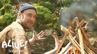 Brad Grills Steak on a Campfire | It's Alive with Brad | Bon Appétit