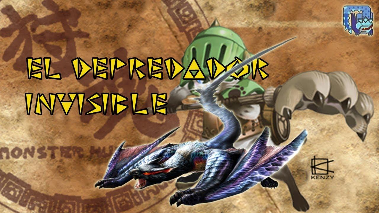 MH3U - The Invisible Predator Lucent Nargacuga Gameplay ...
