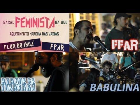Sarau Feminista UEM 2013 - Bandas FFAR, Ataque de Tubarão e Babulina