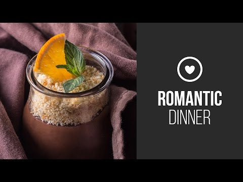 Dark Chocolate Mousse With Cointreau And Orange Confiture || Around the World: Romantic Dinner